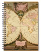Captain Cook: Map, 1808 Spiral Notebook