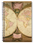 Captain Cook: Map, 1808 Spiral Notebook