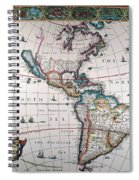 New World Map, 1616 Spiral Notebook