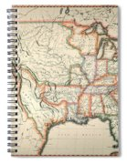 Map: United States, 1820 Spiral Notebook