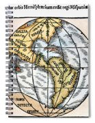 World Map, 1529 Spiral Notebook