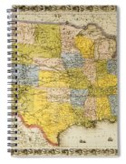 United States Map, 1866 Spiral Notebook
