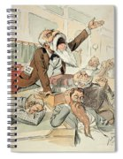 Senate Cartoon,free Silver Spiral Notebook