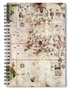 Nina: World Map, 1500 Spiral Notebook