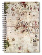 Nina: World Map, 1500 Spiral Notebook