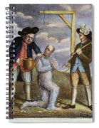 Tarring & Feathering, 1774 Spiral Notebook
