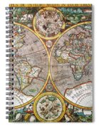World Map, 1607 Spiral Notebook