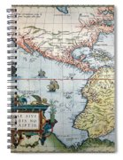 New World Map, 1570 Spiral Notebook