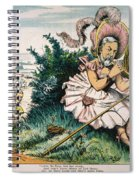 James Blaine Cartoon, 1884 Spiral Notebook
