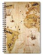 Vespucci's World Map, 1526 Spiral Notebook