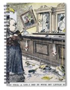 Carry Nation Cartoon, 1901 Spiral Notebook