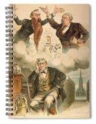 Cartoon: Panic Of 1893 Spiral Notebook