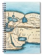 Strabo World Map, C20 A.d Spiral Notebook
