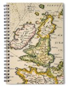 Map Of Great Britain, 1623 Spiral Notebook