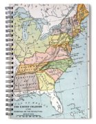 United States Map, C1791 Spiral Notebook