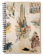 Overproduction Cartoon Spiral Notebook