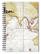 Indian Ocean: Map, 1705 Spiral Notebook