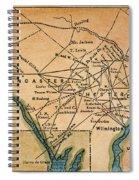 Underground Railroad Map Spiral Notebook