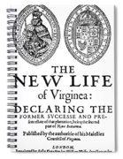Virginia Tract, 1612 Spiral Notebook