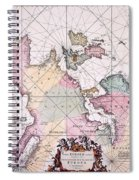 Map: European Coasts, 1715 Spiral Notebook