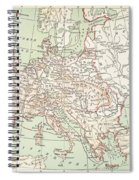 Map Of Europe, C1812 Spiral Notebook