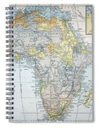 Map: Africa, 19th Century Spiral Notebook