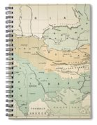 Balkan Map, 1885 Spiral Notebook