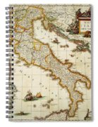 Map Of Italy, 1631 Spiral Notebook