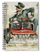 Police Corruption Cartoon Spiral Notebook