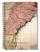 Colonial America Map, 1733 Spiral Notebook