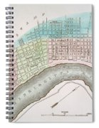 New Orleans Map, 1837 Spiral Notebook
