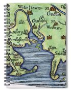 New England Map 1677 Spiral Notebook