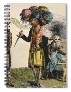 Cartoon: French War, 1798 Spiral Notebook