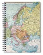 Map: Europe, 1885 Spiral Notebook