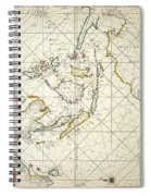 Map: East Indies, 1670 Spiral Notebook