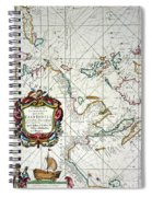 East Indies Map, 1670 Spiral Notebook