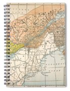 Map: Eastern Canada Spiral Notebook
