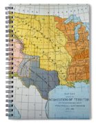 U.s. Map, 1776/1884 Spiral Notebook