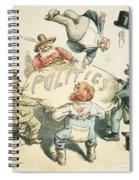 U.s. Cartoon: Businessman Spiral Notebook