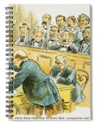 Litigation Cartoon Spiral Notebook