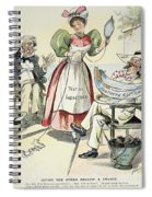 New South Cartoon, 1895 Spiral Notebook