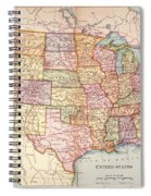 Map: United States, 1905 Spiral Notebook