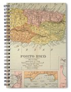 Map: Puerto Rico, 1900 Spiral Notebook