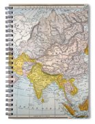 Asia Map Late 19th Century Spiral Notebook