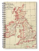 Map: British Isles, C1890 Spiral Notebook