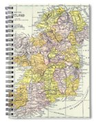 Map: Ireland, C1890 Spiral Notebook