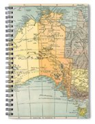 Map: Australia, C1890 Spiral Notebook