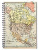 Map: North America, 1890 Spiral Notebook