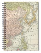 Map: East Asia, 1907 Spiral Notebook