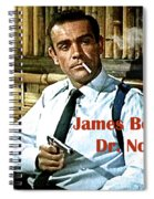 007, James Bond, Sean Connery, Dr No Spiral Notebook